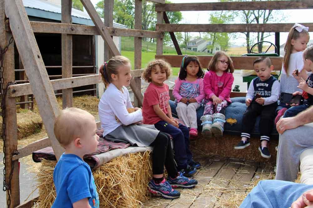 family time on the farm